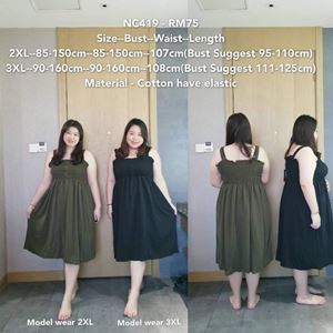 NC419 Ready Stock  *Bust 85-160cm / 34-60inch