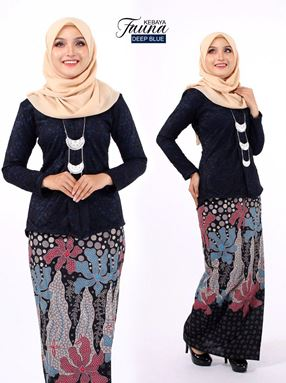 KEBAYA LACE FAUNA NAVY BLUE