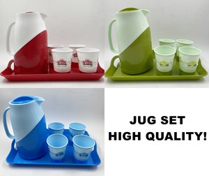 JUG SET PLASTIC 6PCS