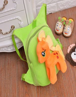 LITTLE PONY BAGPACK ORANGE APPLE GREEN-06