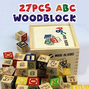 27PCS ABC WOOD BLOCK