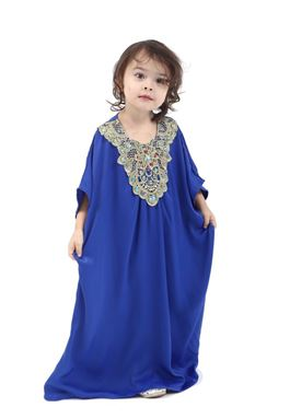Kaftan Dress For Kids - Blue