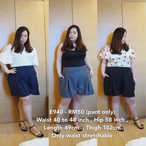 E940 Ready Stock * Waist 40 to 48inch/102-121cm *