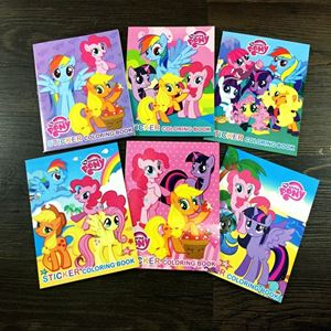 Cartoon Sticker & Coloring Book