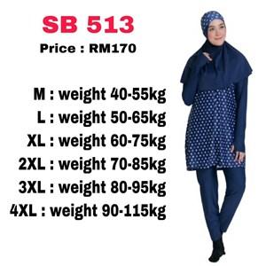 Baju Renang Muslimah SB 513