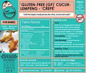 Baby - Gluten-Free (GF) 'Cucur' /  'Lempeng' / Crepes
