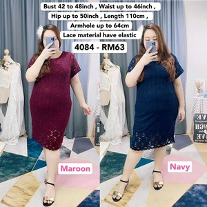 4084 * Ready Stock * Bust 42 to 48inch / 107 - 121cm