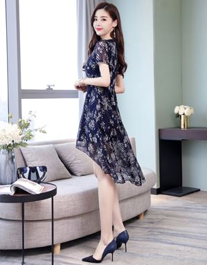 Fairy Floral Print Chiffon Dress