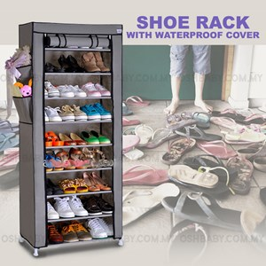SHOE RACK WITH WATER PROOF COVER