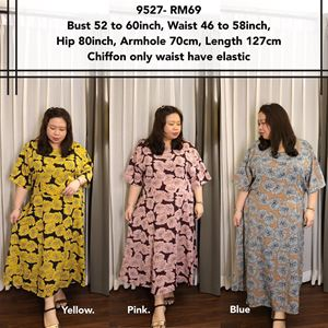 9527 Ready Stock *Bust 52 to 60 inch/ 132-152cm