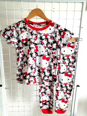 Pyjamas HELLO KITTY BLACK RED : BABY 12M - 36M