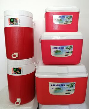 SET COOLER PORTA 5PCS   - RED