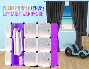 Plain Purple 9C Diy Wardrobe (PN9P)