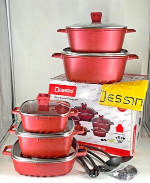 DESSINI 22PCS GRANITE -  RED