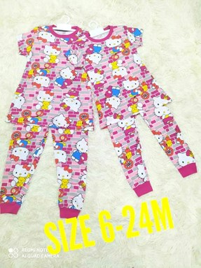 Pyjamas HELLO KITTY PINK BRICK : BABY 6M- 24M