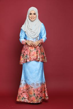 ZAFRA DOLL PEPLUM-BLUE