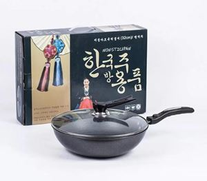 Korean Non Stick Wok 32cm ( Iron Base )