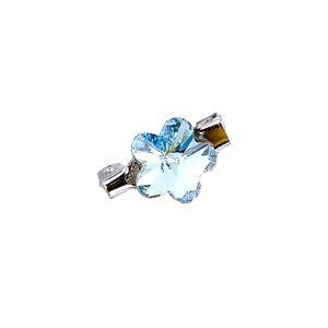Brooch Fancy Flower Aquamarine