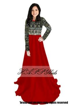 Dress Raya Songket For Mama - Merah