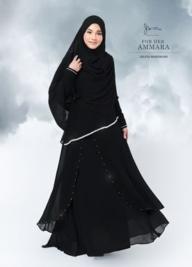 Jubah Ammara For Her (Black)