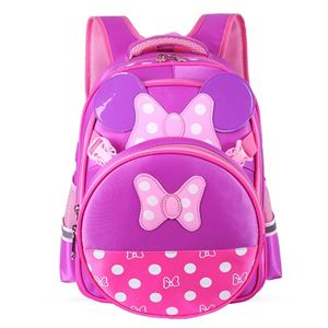 MINNIE MOUSE BAGS FOR GIRLS AND PRIMARY KIDS (PURPLE AND PINK)