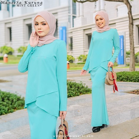 NAFEESA MANEESA KURUNG MINT GREEN
