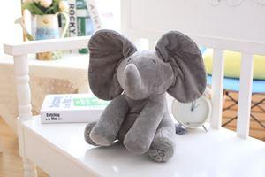 Peek-A-Boo Singing Elephant - Grey