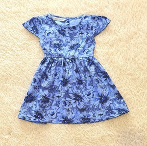 [SIZE 5Y] Baby and Kids Dress FLOWER LIGHT BLUE Brand KF