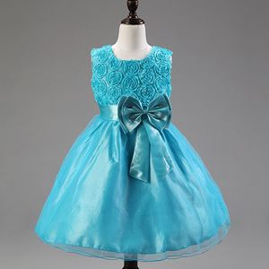 Girls Princess Dress - LIGHT BLUE   ( SZ 70-160 )