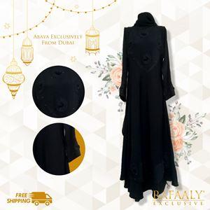 Lacey Floral Arise Black Abaya