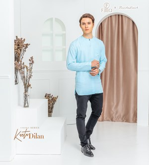 KURTA DILAN IN ARTIC BLUE