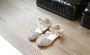 CLEARANCE SALE RIBBON BLING SILVER COLOUR GIRL SHOES
