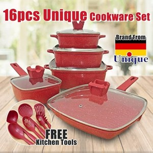 16 PCS UNIQUE GRANITE KITCHEN COOKWARE