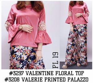 (SET) VALENTINE FLORAL TOP & VALERIE FLORAL PALAZZO