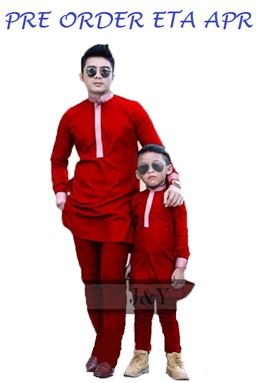 J & Y FAMILY SET  J073  ( BOY ) MERAH