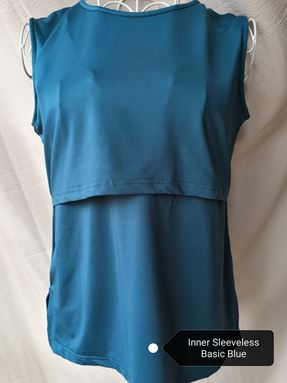 *Milk Silk* Sleeveless Nursing Inner (Basic Blue) Size Petite, Regular, Big
