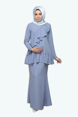 Cammelia Kurung - Steel Blue