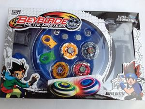 beyblade set(4 beyblades+2 launchers+4 tips+2 bolts +1grip+1arena)beyblade with arena