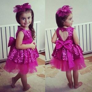 Dark Pink Sequin Princess Dress