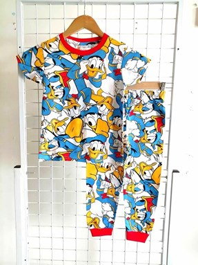 Pyjamas HAPPY DONALD DUCK WHITE : BABY size 6M , 18M (HELAL)