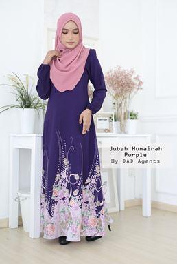 Jubah Humairah Purple