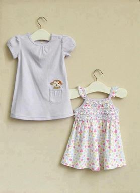 G074/12 MOM & BAB DRESS- DESIGN B  ( 2 IN 1 )