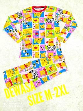 SIZE L - 2XL DEWASA Pyjamas POOH YUMMY