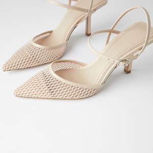 Small Mesh Fine Pointed Buckle Wild Heels