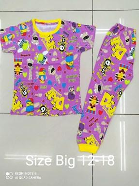 Pyjamas DIDI AND FRIENDS PURPLE:  BIG Size 12 -18