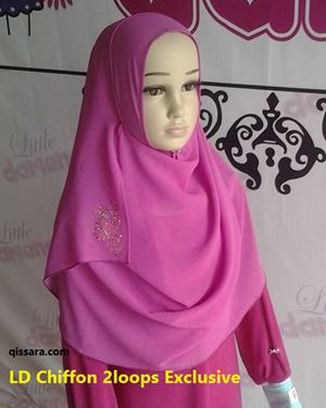 LD Chiffon 2loops Exclusive (Hot Pink)