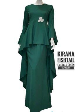 Kirana Fishtail Emerald Green