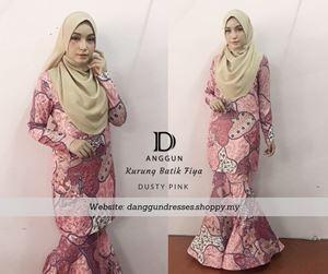 Kurung Batik Fiya Dusty Pink