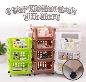 4 TIER KITCHEN RACK WITH WHEEL