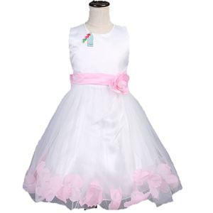 L106 WHITE DINNER DRESS ( LIGHT PINK FLOWER )